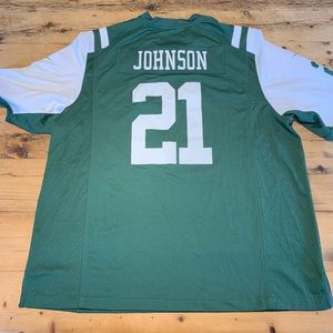Nike New York Jets On Field Jersey Johnson 21